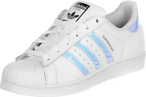 Adidas Silver adidas superstar j w shoes white silver