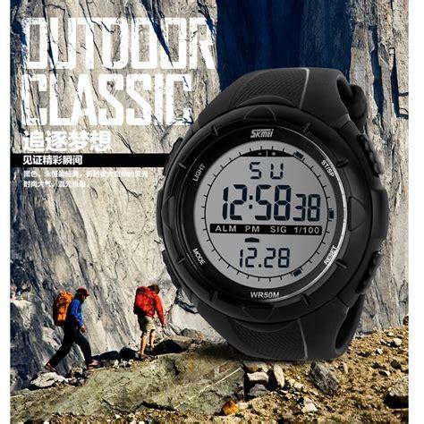 Jam Tangan Skmei Dg1025 Black skmei jam tangan sport digital pria dg1025 black