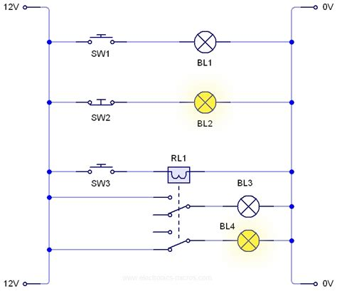 relay circuit ladder diagram circuit and schematics diagram