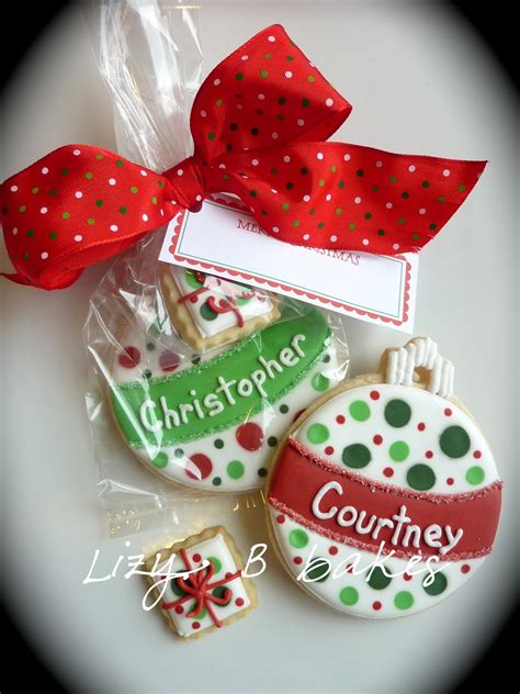 lizy b personalized christmas cookies
