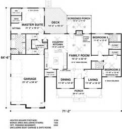 House Plan 93483 At Familyhomeplans Com Craftsman House Plans One Level