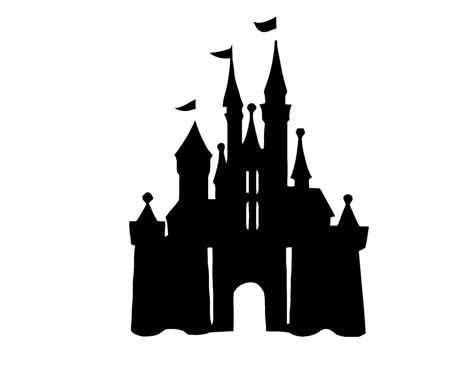 Disney World Castle Outline by Site Unavailable