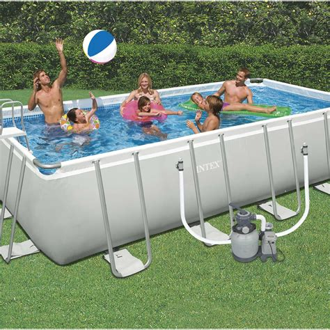 Piscine Tubulaire Hors Sol 1092 by Piscine Hors Sol Autoportante Tubulaire Intex L 6 05 X L