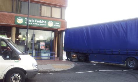 Travis Perkins Sheds by West Hstead Lorry Damages Travis Perkins Building