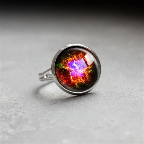 galaxy ring glass ring galaxy space jewelry adjustable