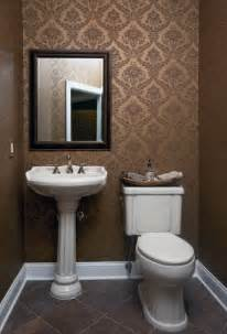 Powder Room Renovation Ideas Wallpapered Powder Room Traditional Powder Room