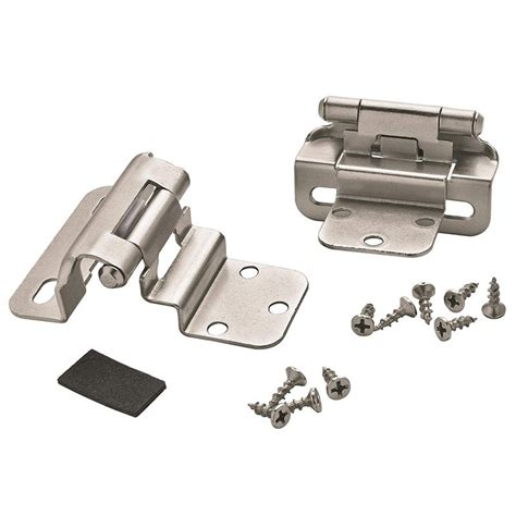3 8 inset partial wrap cabinet hinges amerock decorative cabinet and bath hardware bpr7565g10