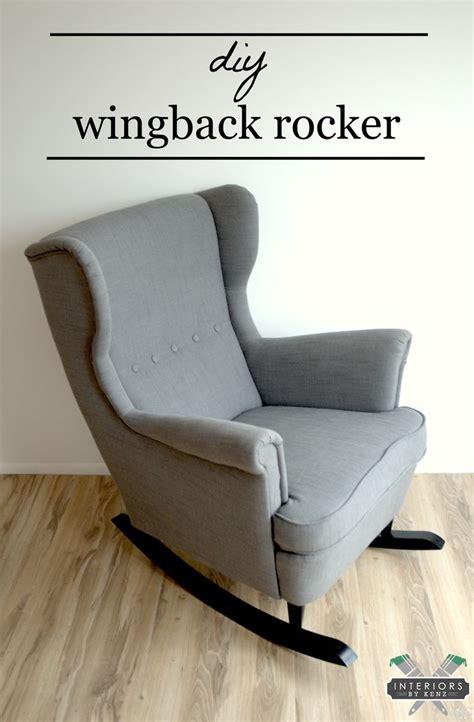 ikea hack strandmon rocker diy wingback rocking chair ikea wingback chair rocking chair