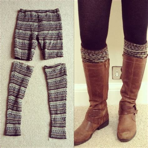 diy knee high socks from tights 10 diy projects to make winter crafts pretty designs