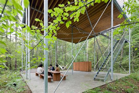 House Go Pilotis In A Forest House Go Hasegawa Archeyes