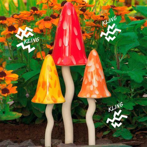 Tonfiguren F R Den Garten 2213 by Windspiel Pilze Zauberwald Sommer 3er Set Kaufen