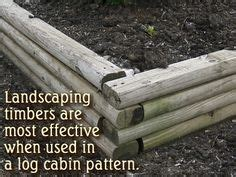 Keeping Landscape Timbers In Place Landscaping Timbers On Landscaping Raised