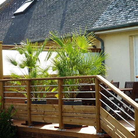 garde corp bois pour terrasse 2756 garde corps de terrasse en bois les jardins de la vall 233 e