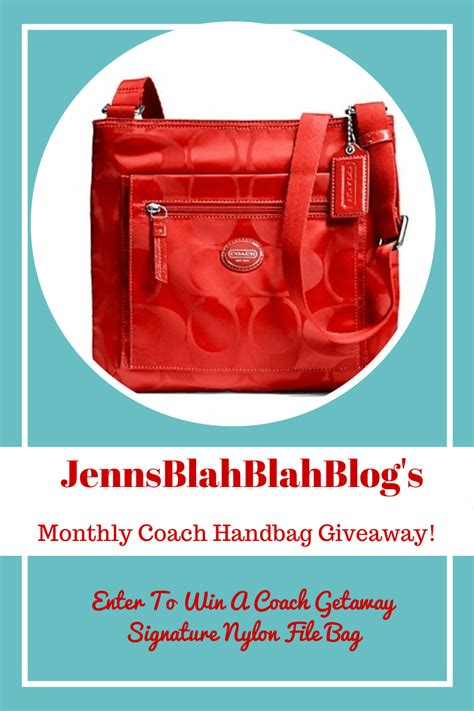 Handbag Giveaway - coach getaway signature nylon file bag giveaway jays sweet n sour life