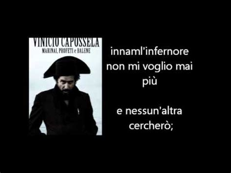 sole spento testo vinicio capossela si 232 spento il sole testo lyrics