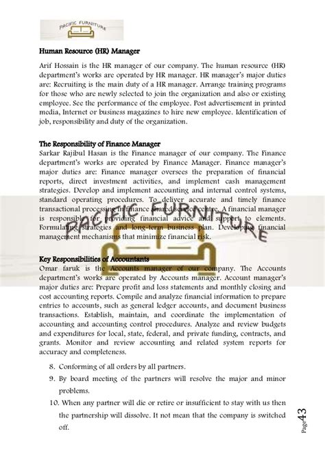 human resources business plan template business plan sle on furniture