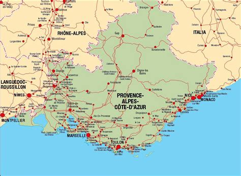 map of provence large provence cote d azur maps for free and