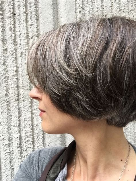 images of highlights on short gray hair natural highlights icy brown hair gray pinterest