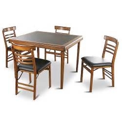 Folding Table Chair Set Vintage 5 Folding Table And Chairs Set Furniture Walmart
