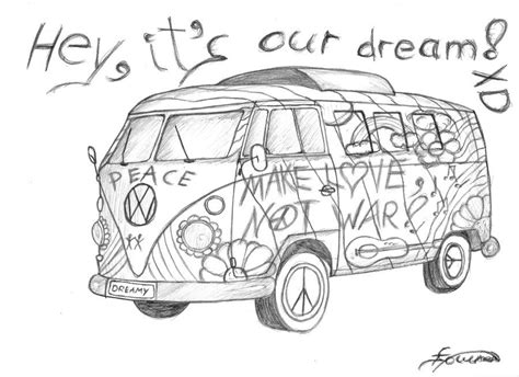 hippie van drawing the van art pinterest drawings hippie art and art