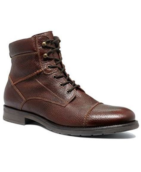 mens alfani boots alfani cap toe lace boots shoes macy s
