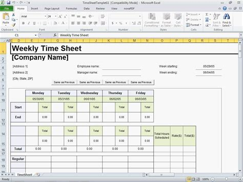 excel timesheet template for mac driverlayer search engine