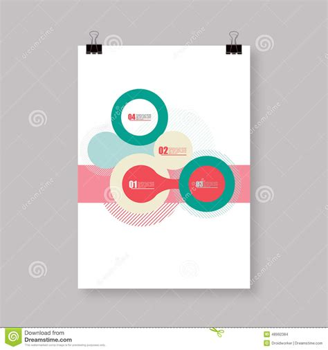 Flyer Or Cover Abstract A4 A3 Poster Template Design With Your Text Stock Vector Image 48992384 Poster Abstract Template