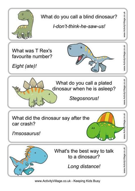 printable bookmarks activity village dinosaur joke bookmarks 1 free printable from activity
