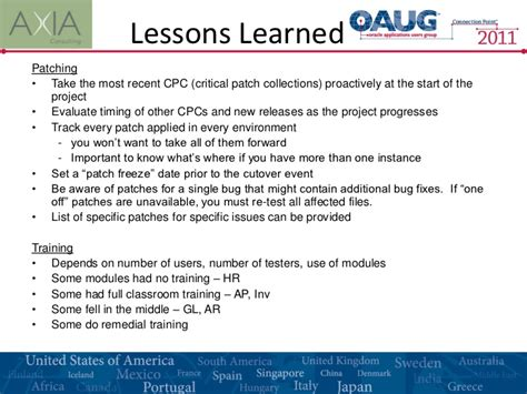 Lessons Learned Best Practices Template project lessons learned template