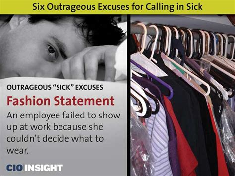 six outrageous excuses for calling in sick