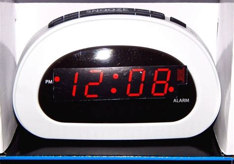 mainstays digital alarm clock electric  battery backup