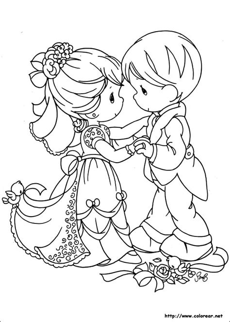 free coloring pages of couples precious moments