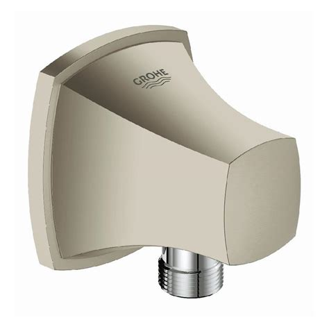 shop grohe grandera brushed nickel infinity 1 handle freestanding bathtub faucet at lowes com shop grohe grandera brushed nickel infinity wall bracket
