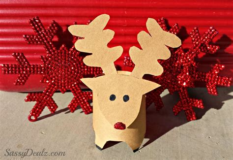 Reindeer Paper Crafts - mini reindeer toilet paper roll craft for