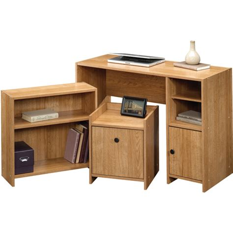 donovan student desk sauder beginnings office in a box highland oak
