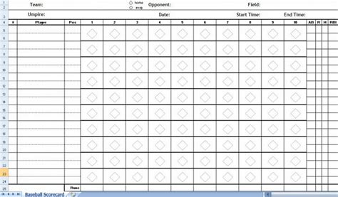 coloring pages exles baseball score sheet excel template 429768 171 coloring