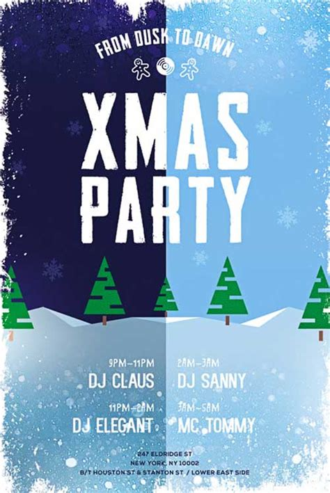 xmas party free psd flyer template download for photoshop