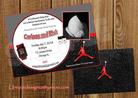 printable birthday invitations michaels michael jordan basketball baby shower by uniquedesignzzz