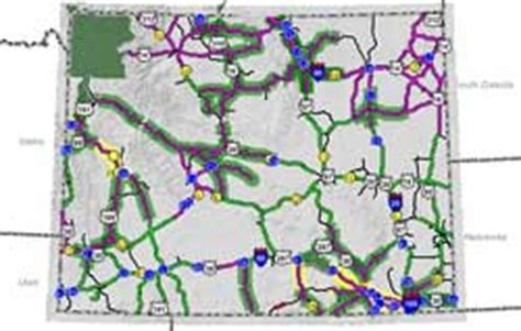 wyoming road conditions map road conditions in wyoming