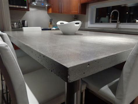 Undermount Sink Concrete Countertop by Modern Kitchen Concrete Countertop With Island And