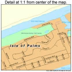 isle of palms south carolina map 4536115