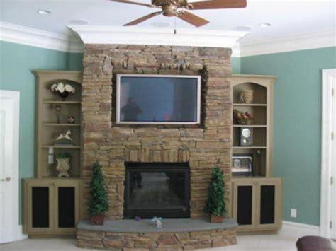 corner fireplace design  component ideas client