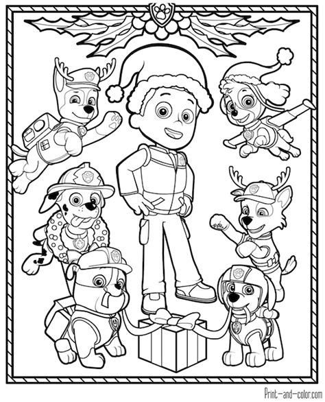 Paw Patrol Coloring Pages Print And Color Com Coloring Pictures For