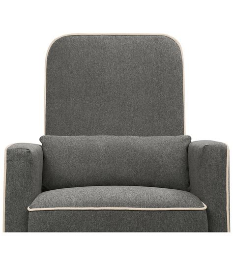 olive swivel glider and ottoman by davinci davinci olive swivel glider ottoman dark grey cream