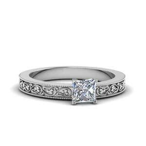 Bar Set Halo Pendant 1197 filigree princess cut wedding band in 14k white