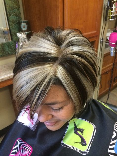 photos of bobbed hair with bold highlights 955 best adventures in chunky hightlights and lowlights