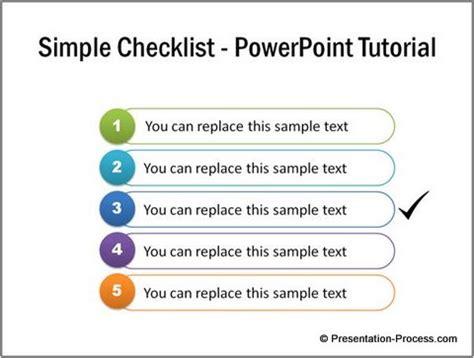 powerpoint tutorial elementary simple checklist powerpoint tutorial