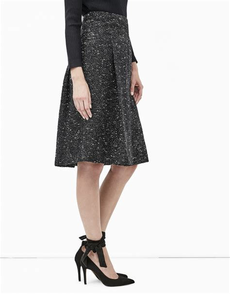 grey tweed midi skirt skirts roberto verino