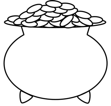 free pot of gold coloring pages