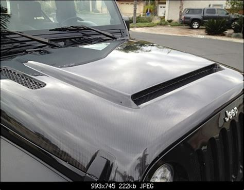 jeep hood accessories 91 best images about carbon fiber wraps accessories on